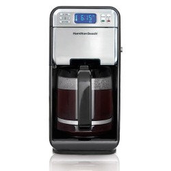 Programmable 12 Cup Coffeemaker - Black/Stainless