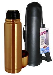Stainless Steel Thermal Bottle w-Carry Case Bronze