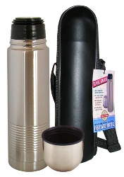 Stainless Steel Thermal Bottle w-Carry Case Stainless