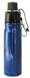 Stainless Steel Water Bottle 16 oz Blue