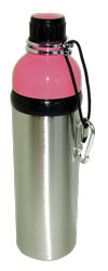 Stainless Steel Water Bottle 24 oz Pink