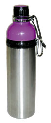 Stainless Steel Water Bottle 24 oz Purple