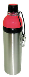Stainless Steel Water Bottle 24 oz Red