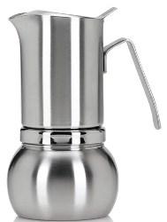 Stella Inox Satinata Induction Stovetop Espresso Maker Brushed