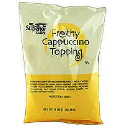 Superior Capp Frothy Topping Kosher Circle U - Case of 12 -1lb bags