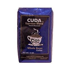 Whole Bean Gourmet Coffee (12oz) - Cuda Espresso Blend Fresh Roasted