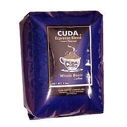 Whole Bean Gourmet Coffee (5 lb) - Cuda Espresso Blend Fresh Roasted