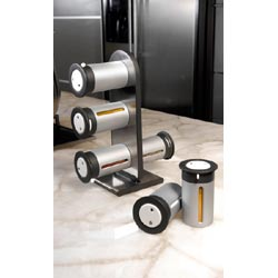 Zevro 6 Canister Magnetic Spice Stand