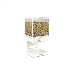 Zevro Compact Cereal Dispenser 17-5 oz Canister - White