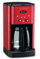Cuisinart Brew Central 12 Cup Coffeemaker Metallic Red