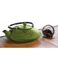 Primula 28 Ounce Cast Iron Teapot Green